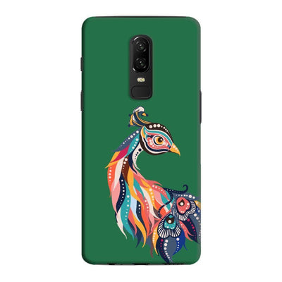 Incredible Colors Of The Peacock Slim Case And Cover For Oneplus 6 - Green