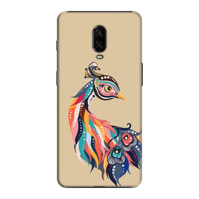Incredible Colors Of The Peacock Slim Case And Cover For Oneplus 6T - Brown