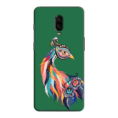 Incredible Colors Of The Peacock Slim Case And Cover For Oneplus 6T - Green