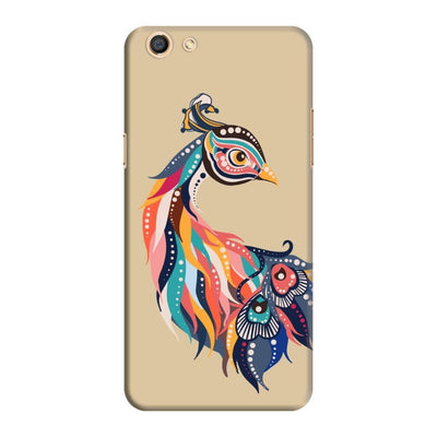 Incredible Colors Of The Peacock Slim Case And Cover For Oppo F3 - Brown