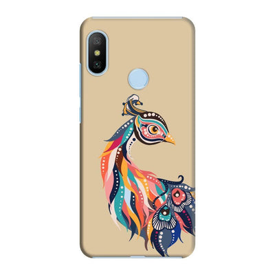 Incredible Colors Of The Peacock Slim Case And Cover For Redmi 6 Pro - Brown