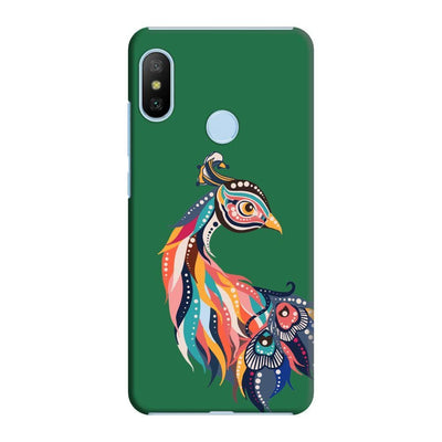 Incredible Colors Of The Peacock Slim Case And Cover For Redmi 6 Pro - Green