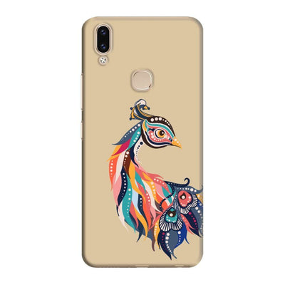 Incredible Colors Of The Peacock Slim Case And Cover For Vivo V9 - Brown