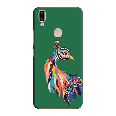 Incredible Colors Of The Peacock Slim Case And Cover For Vivo V9 - Green