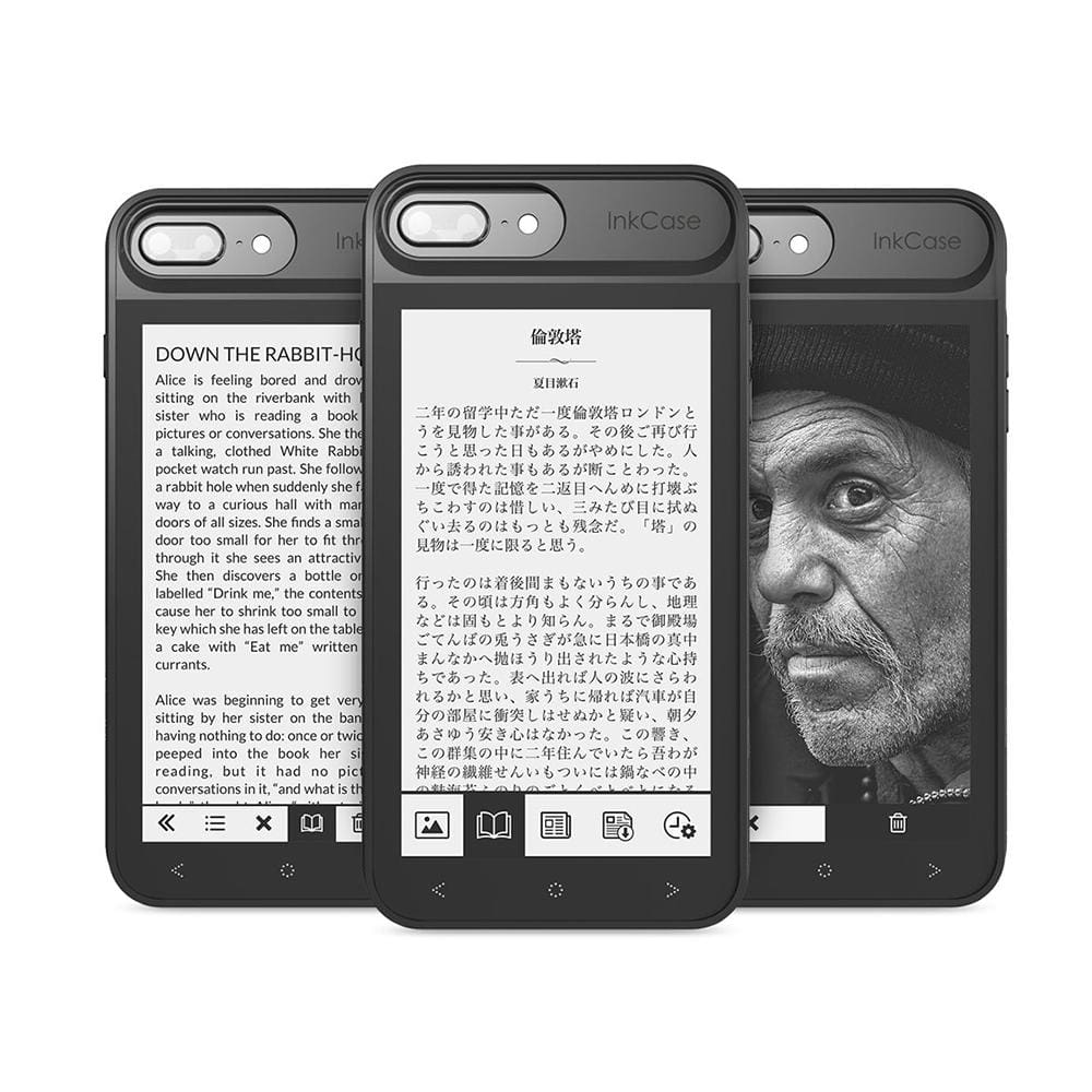 InkCase i7 Plus - make your iPhone your Kindle