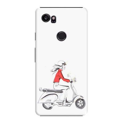 Lady On Scooter Slim Case For Pixel 2 Xl