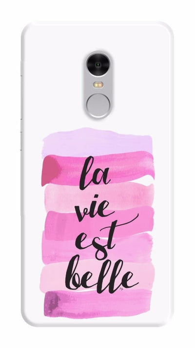 Life is beautiful Slim Case For Redmi Note 4