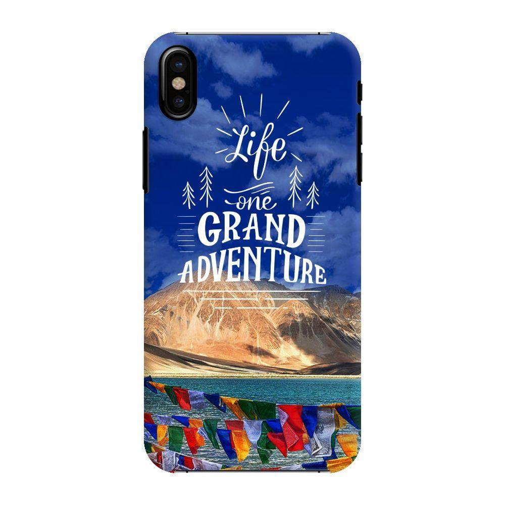 Life, One Grand Adventure Slim Case And Cover For iPhone X