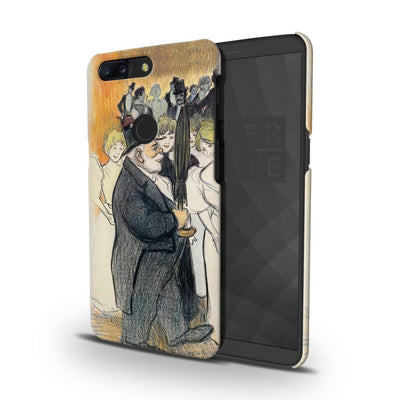 Man With Umbrella Slim Case And Cover For Oneplus 5T
