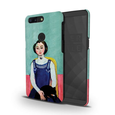 Marguerite With Black Cat Slim Case And Cover For Oneplus 5T