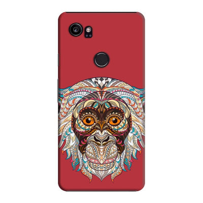 Monkey-The Mystical Charmer Slim Case And Cover For Pixel 2 Xl - Red