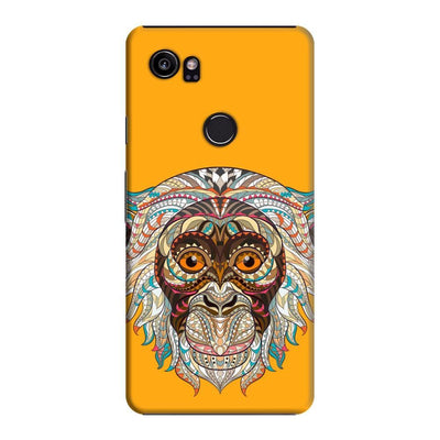 Monkey-The Mystical Charmer Slim Case And Cover For Pixel 2 Xl - Yellow