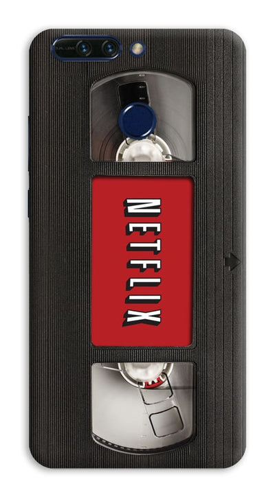 Netflix On VHS Designer Slim Case And Cover For Honor 8 Pro