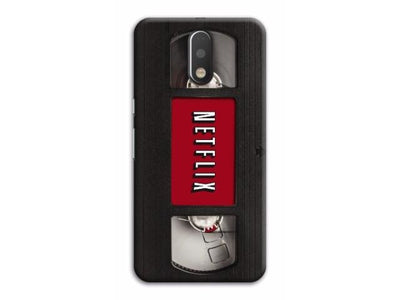 Netflix On VHS Designer Slim Case And Cover For Moto G4 & Plus