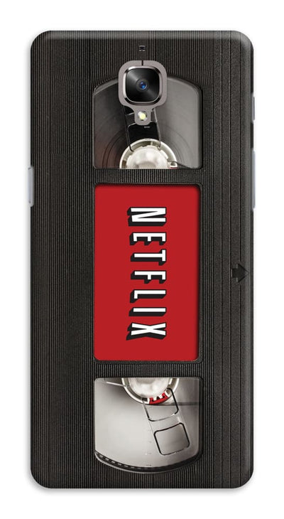Netflix On VHS Designer Slim Case And Cover For OnePlus 3T
