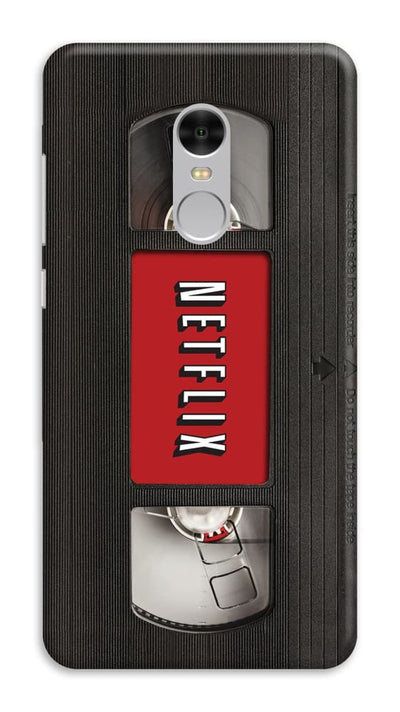 Netflix On VHS Designer Slim Case And Cover For Redmi Note 4