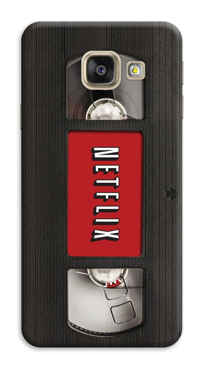 Netflix On Vhs Slim Case And Cover For Galaxy A7 (2017)