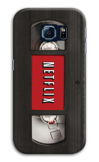Netflix On Vhs Slim Case And Cover For Galaxy S6 Edge