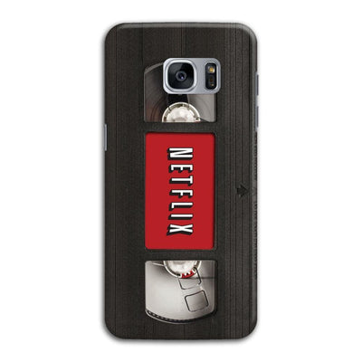 Netflix On Vhs Slim Case And Cover For Galaxy S7 Edge