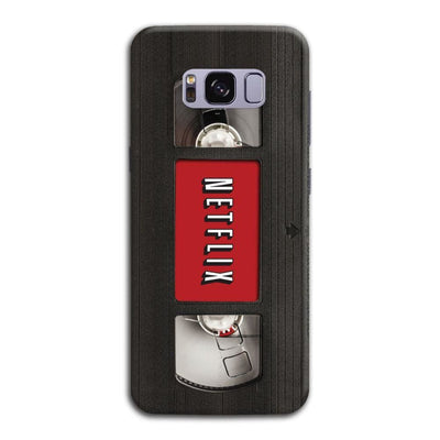 Netflix On Vhs Slim Case And Cover For Galaxy S8 Plus