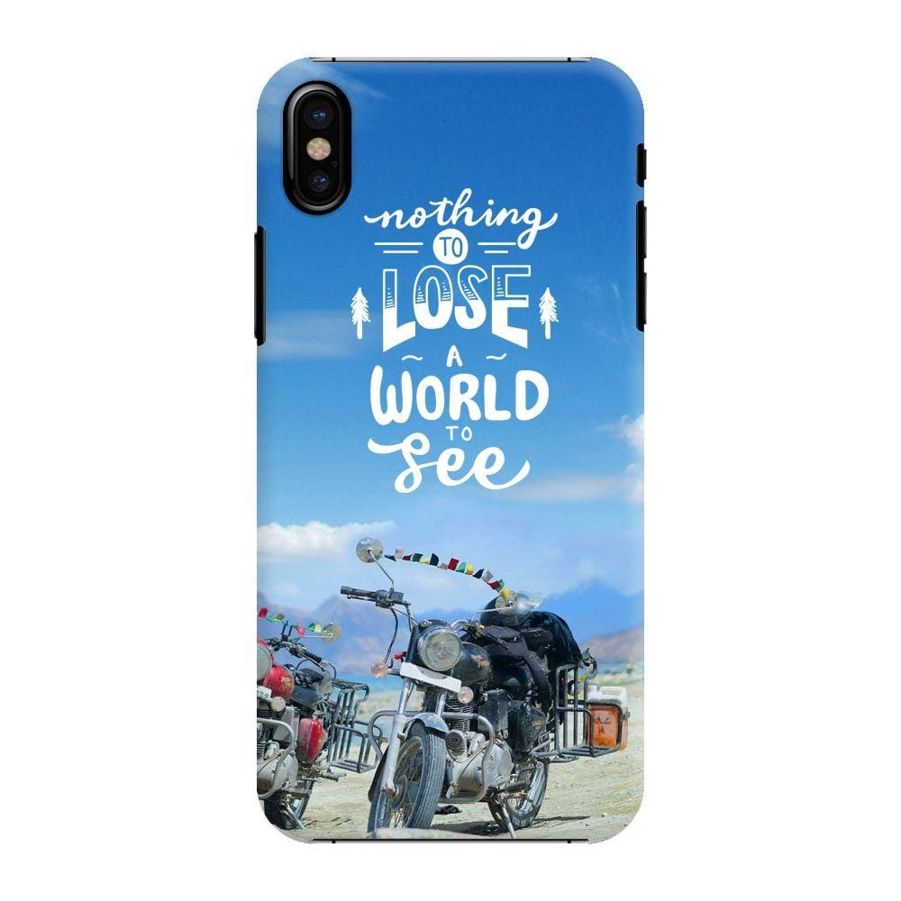Nothing To Lose, A World To See Slim Case And Cover For iPhone X