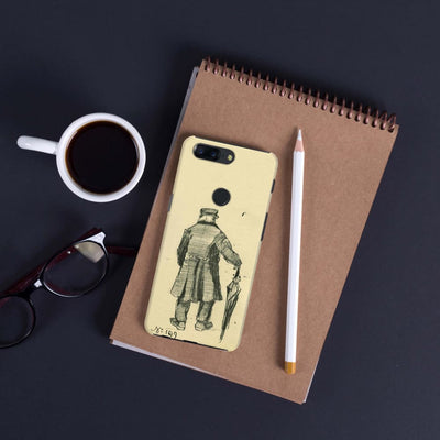 Orphan With Long Overcoat And Umbrella Slim Case Cover For Oneplus 5T