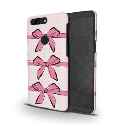 Pink Bows And Polka Dots Slim Case Cover For Oneplus 5T