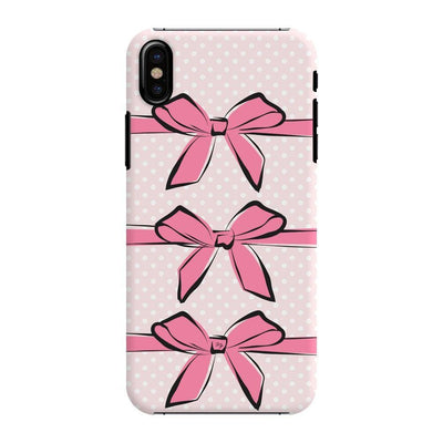 Pink Bows And Polka Dots Slim Case For Iphone X