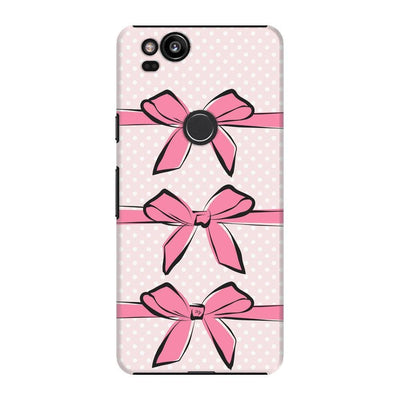 Pink Bows and Polka Dots Slim Case For Pixel 2