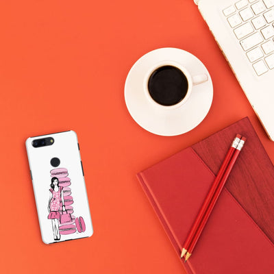 Pink Macaroons Slim Case And Cover For Oneplus 5T