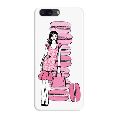 Pink Macaroons Slim Case For Oneplus Five