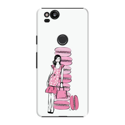 Pink Macaroons Slim Case For Pixel 2