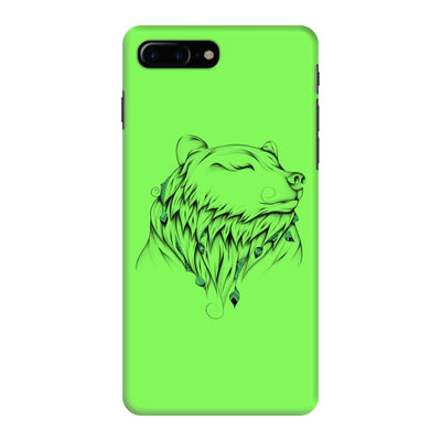 Poetic Bear Slim Case And Cover For Iphone 7 Plus - Neon Green