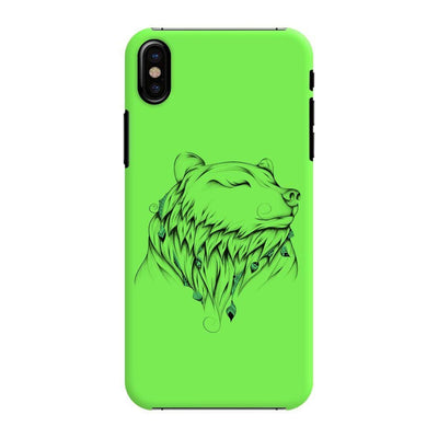 Poetic Bear Slim Case And Cover For Iphone Xs - Neon Green