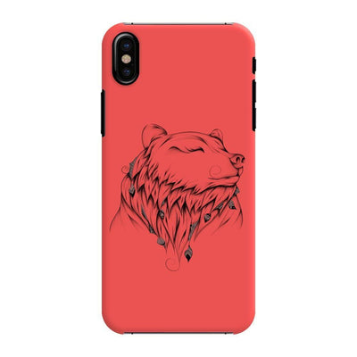 Poetic Bear Slim Case And Cover For Iphone Xs - Neon Red