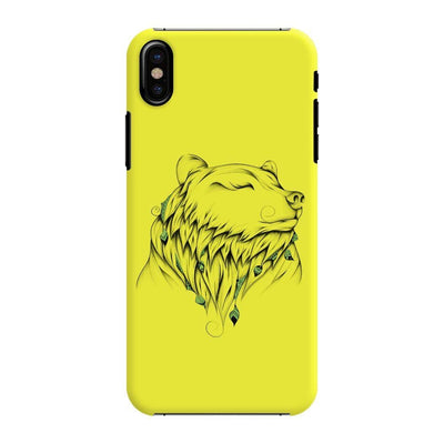Poetic Bear Slim Case And Cover For Iphone Xs - Neon Yellow