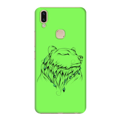 Poetic Bear Slim Case And Cover For Vivo V9 - Neon Green
