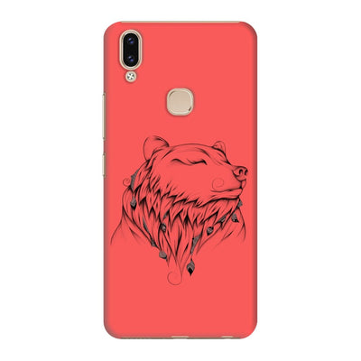 Poetic Bear Slim Case And Cover For Vivo V9 - Neon Red