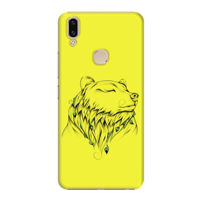 Poetic Bear Slim Case And Cover For Vivo V9 - Neon Yellow