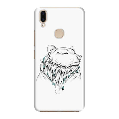 Poetic Bear Slim Case And Cover For Vivo V9 - White