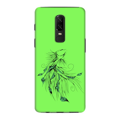 Poetic Betta Fish Slim Case And Cover For Oneplus 6 - Neon Green