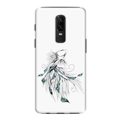 Poetic Betta Fish Slim Case And Cover For Oneplus 6 - White