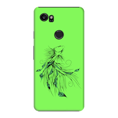 Poetic Betta Fish Slim Case And Cover For Pixel 2 Xl - Neon Green
