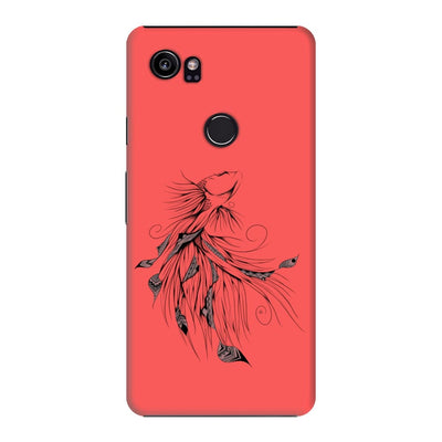 Poetic Betta Fish Slim Case And Cover For Pixel 2 Xl - Neon Red
