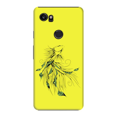 Poetic Betta Fish Slim Case And Cover For Pixel 2 Xl - Neon Yellow