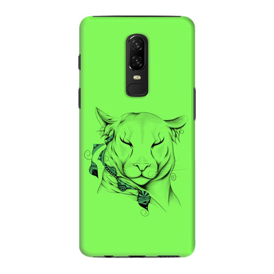 Poetic Cougar Slim Case And Cover For Oneplus 6 - Neon Green