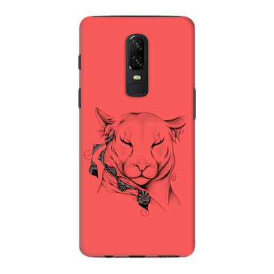 Poetic Cougar Slim Case And Cover For Oneplus 6 - Neon Red