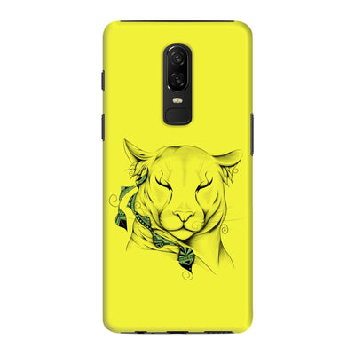 Poetic Cougar Slim Case And Cover For Oneplus 6 - Neon Yellow