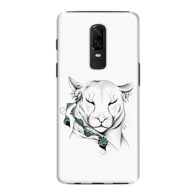 Poetic Cougar Slim Case And Cover For Oneplus 6 - White