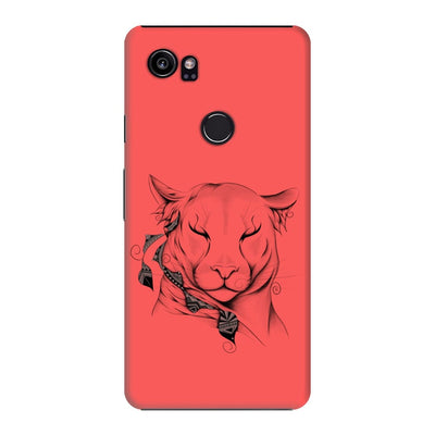 Poetic Cougar Slim Case And Cover For Pixel 2 Xl - Neon Red